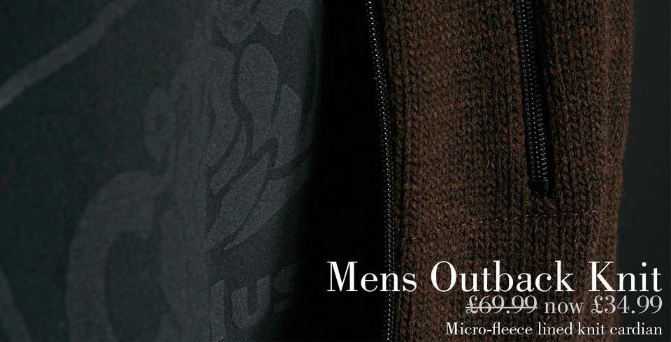 Mens Nineplus Outback Knitted Cardigan